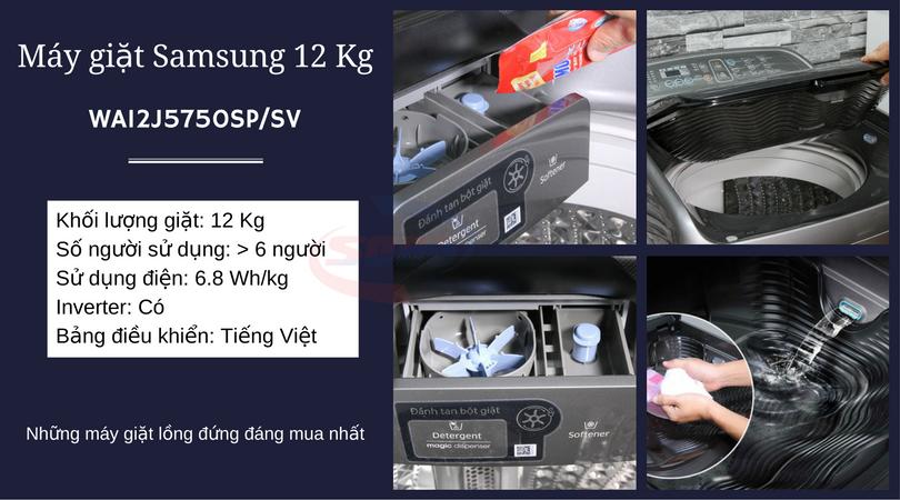 may giat samsung WA12J5750SP-SV