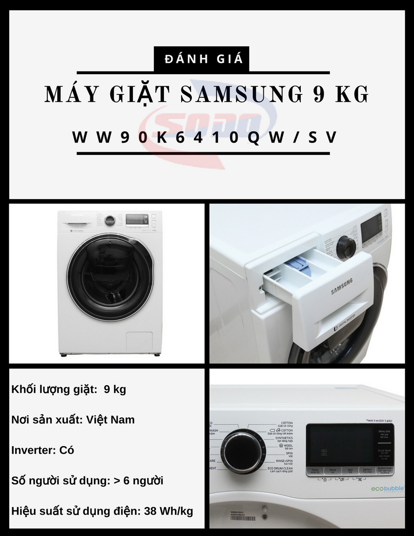 may giat samsung WW90K6410QW-SV