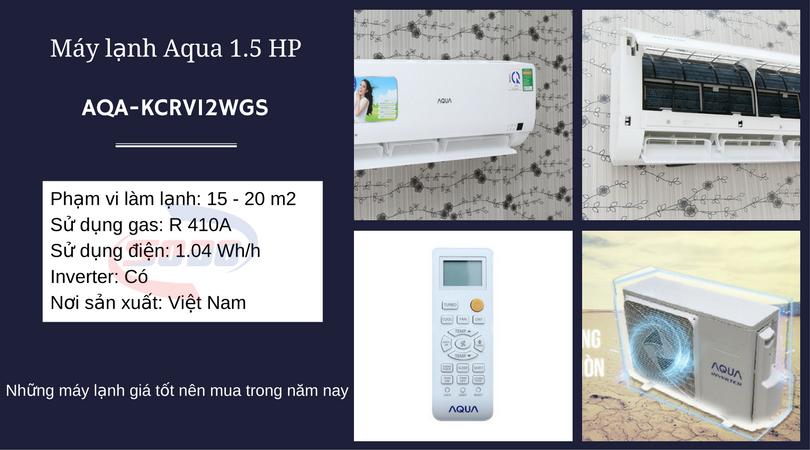 may lanh aqua AQA-KCRV12WGS