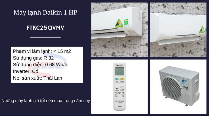 may lanh daikin FTKC25QVMV