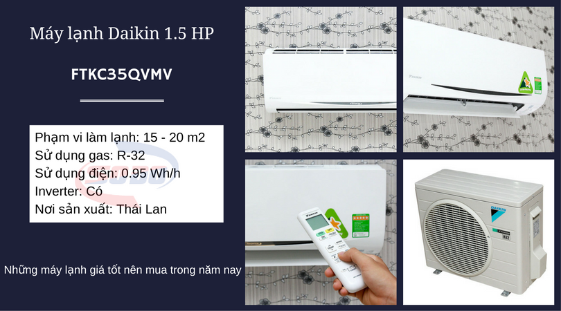 may lanh daikin FTKC35QVMV