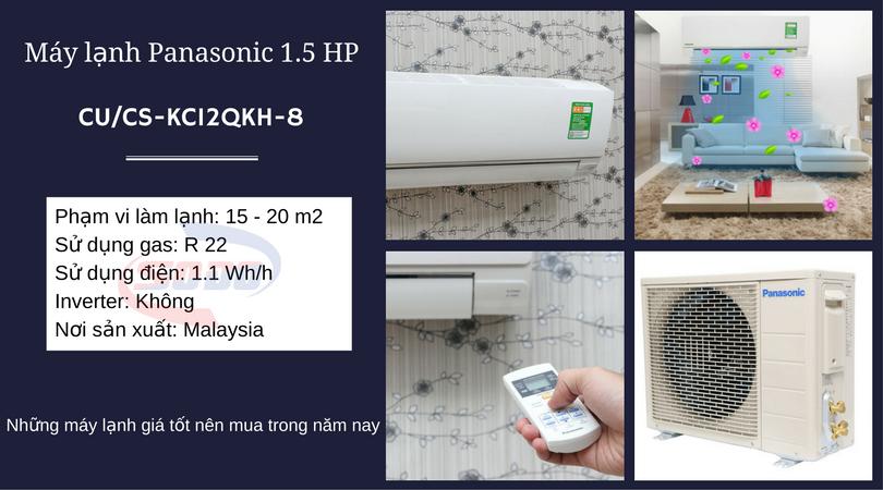 may lanh panasonic CU-CS-KC12QKH-8