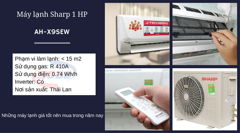 may lanh sharp AH-X9SEW