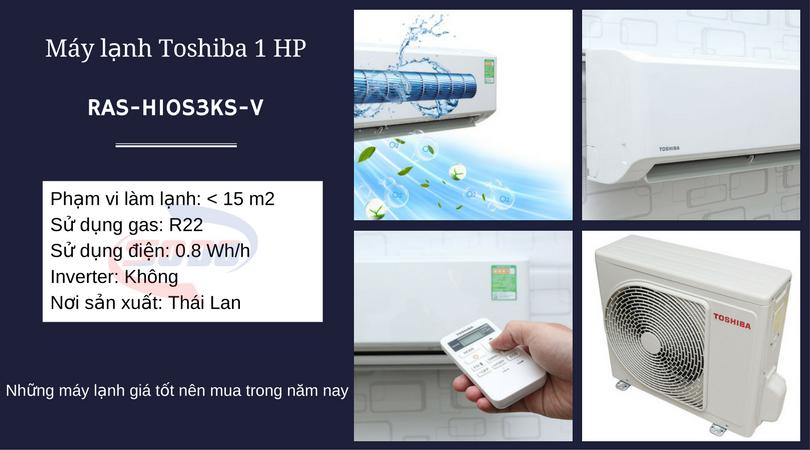 may lanh toshiba RAS-H10S3KS-V