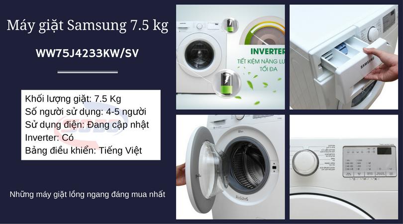 máy giặt samsung WW75J4233KW-SV