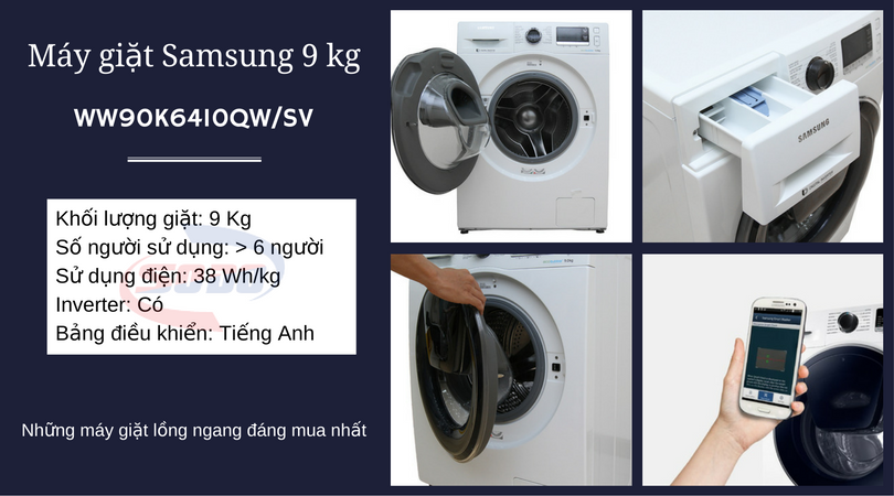 may giat samsung-WW90K6410QW-SV