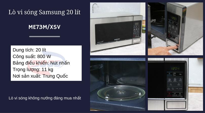 lo vi song samsung ME73M-XSV