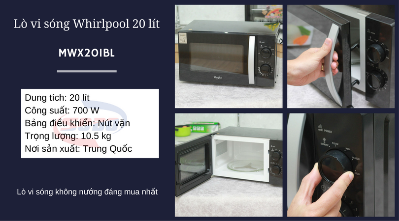 lo vi song whirlpool MWX201BL