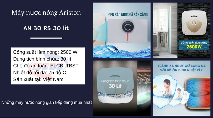 may nuoc nong ariston AN 30 RS 30 lít