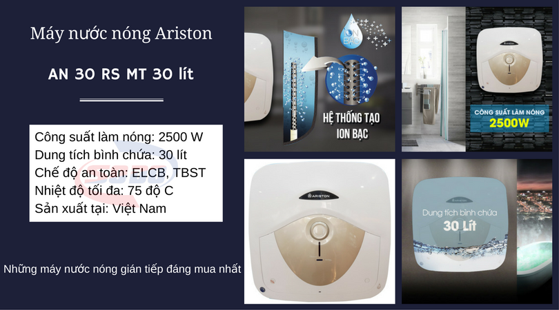 may nuoc nong ariston AN 30 RS MT 30 lít