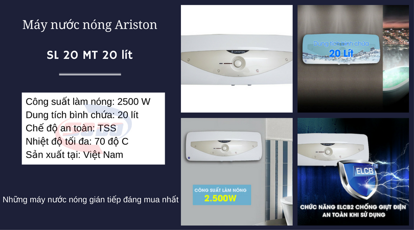 may nuoc nong ariston SL 20 MT 20 lít