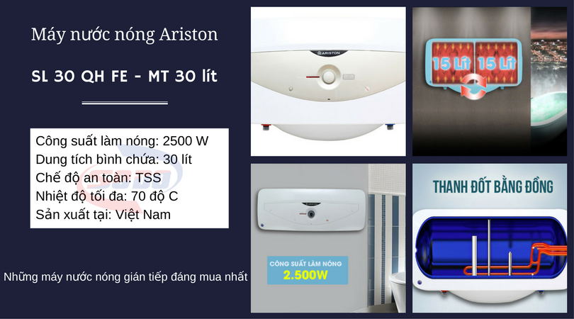 may nuoc nong ariston SL 30 QH FE MT 30 lít