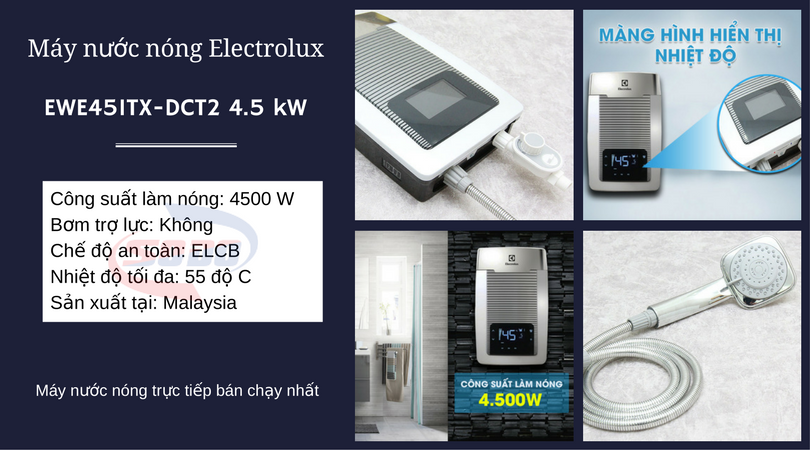 may nuoc nong electrolux EWE451TX-DCT2 4.5 kW