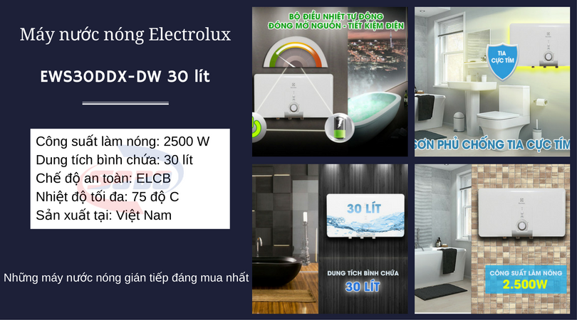 may nuoc nong electrolux EWS30DDX DW 30 lít